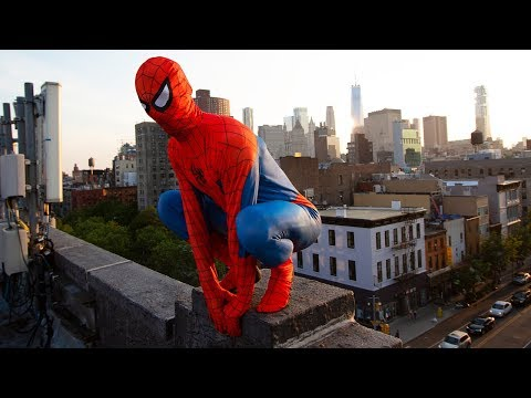 Real Life SPIDER-MAN Saves New York City!