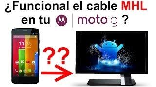 motorola moto g podemos conectar el moto g a un monitor o tv con un cable mhl hdmi hd