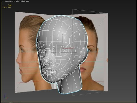 3d head modeling from sphere- low poly