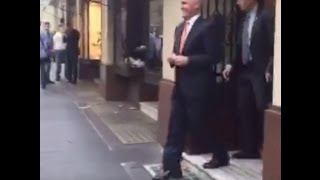 Van Badham catches Malcolm Turnbull leaving lunch at men's-only Athenaeum Club