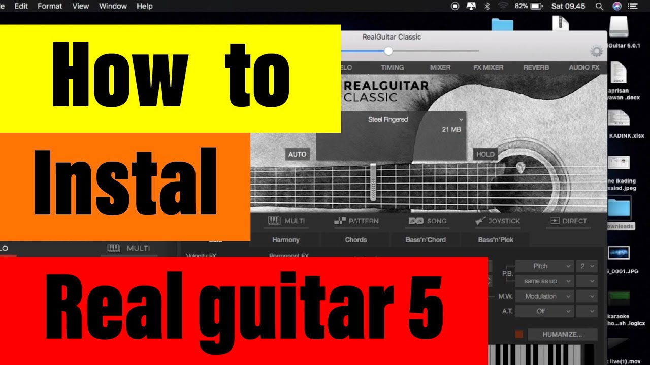 How to instal REAL GUITAR 5