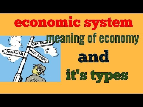 Economic System Capitalism, Socialism And Mixed Economy In Hindi
