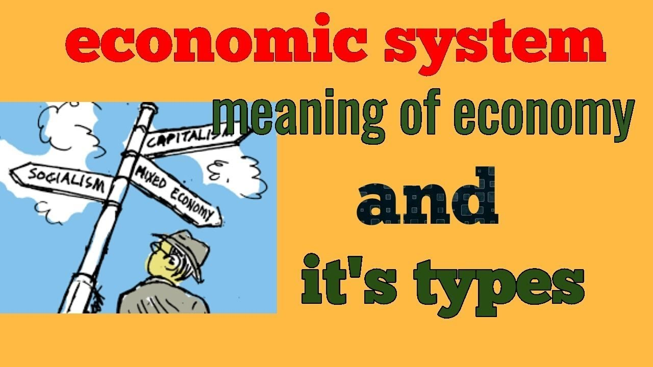 economic system capitalism  socialism and mixed economy in