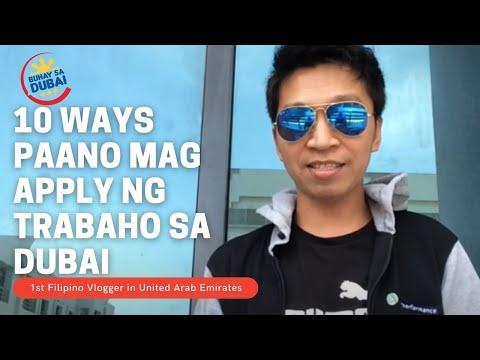 10 WAYS PAANO MAG APPLY NG TRABAHO SA DUBAI