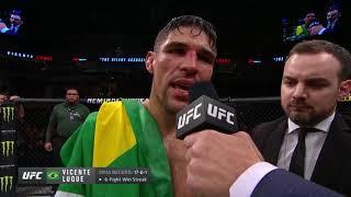 UFC Уругвай: Висенте Люке - Слова после боя