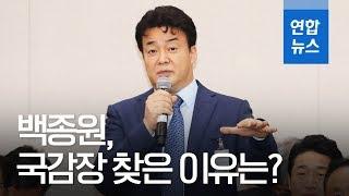 """백종원 """"인구대비 매장 수, 너무 많은 게 문제""""…국감 참고인 출석 / 연합뉴스 (Yonhapnews)"""