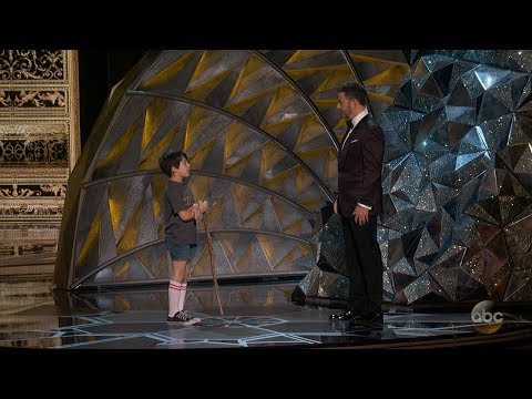 Jimmy Kimmel's 9-Year-Old Self Shows Up at Oscars