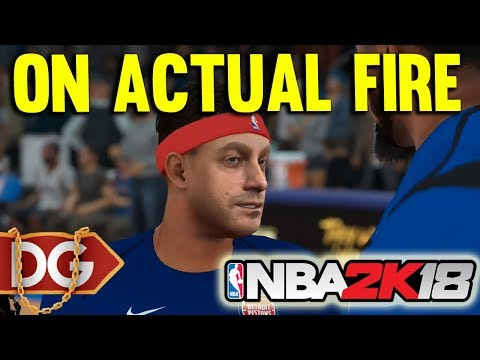 ON ACTUAL FIRE - NBA2k18 Season 2 MyCareer #13