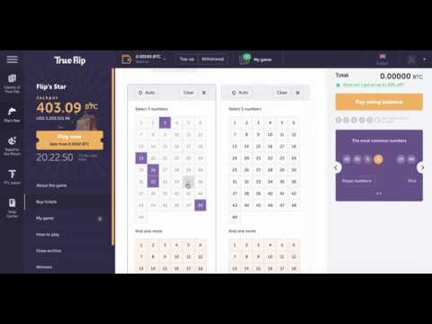 Trueflip Bitcoin Lottery Flips Star