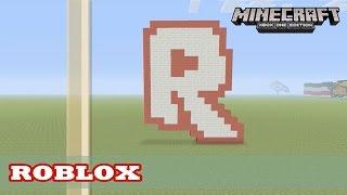Minecraft: Pixel Art Tutorial and Showcase: ROBLOX (R) Logo