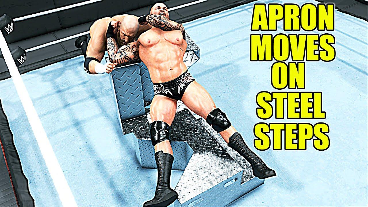Most Destructive Apron Moves On Steel Steps! WWE 2K20
