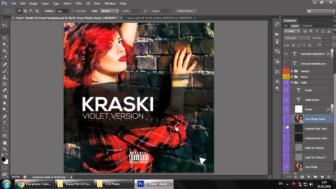 Whats Inside Kraski PSD CD Cover Template YouTube – Psd Album Cover Template