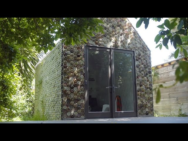 Cabin Made with Recycled 3D Printed Materials