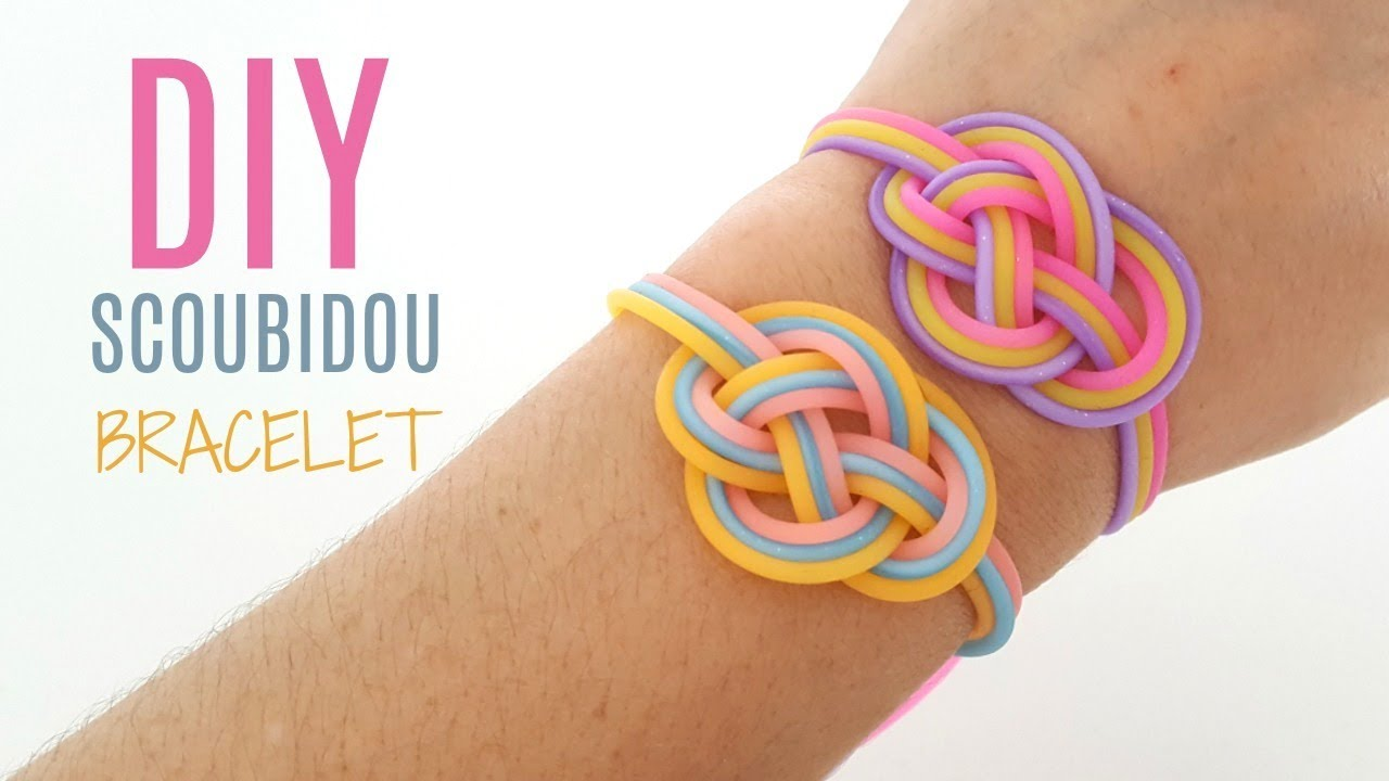 Diy bracelet t scoubidou facile et rapide youtube - Comment faire un scoubidou facile ...