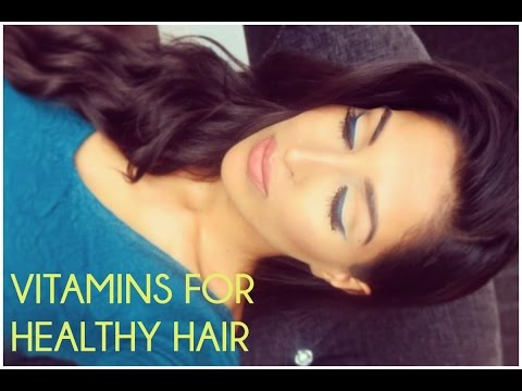 How to Grow Long, Thick, Healthy hair with Vitamins