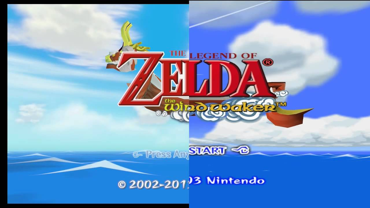 Wind Waker HD Direct Comparison using Dolphin Emulator [Reupload]