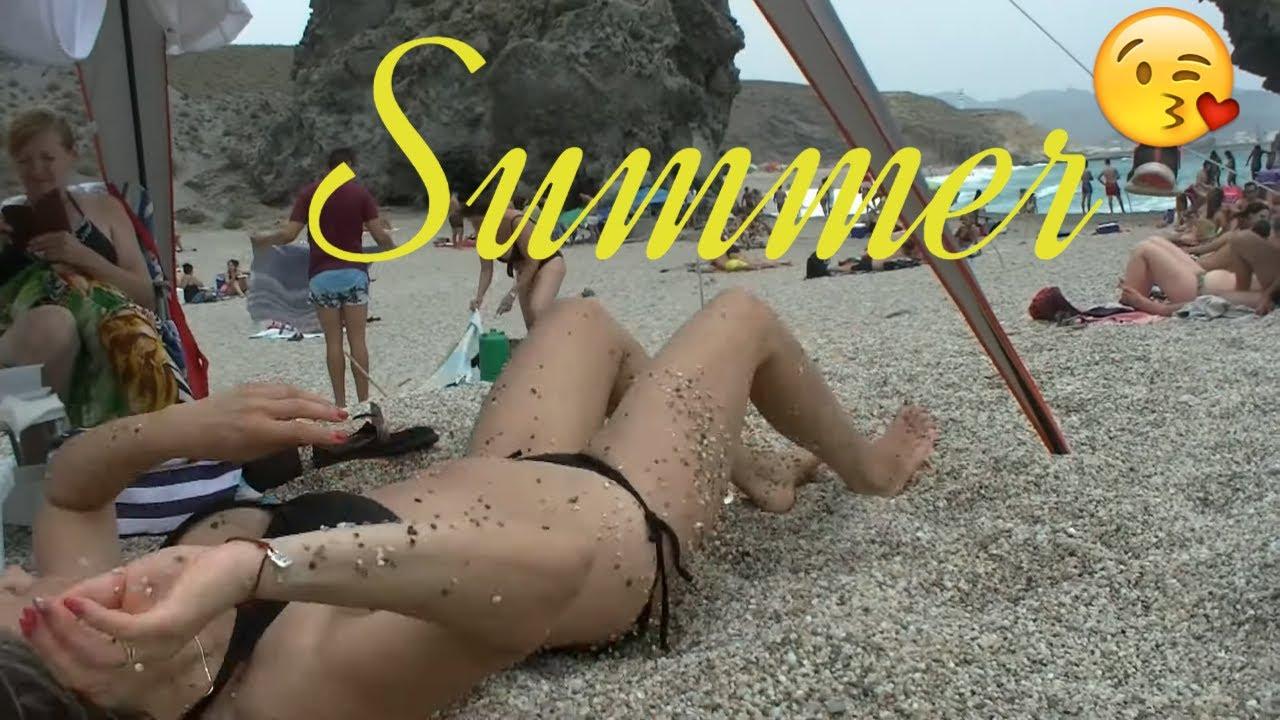Mid Summer 2020 on popular Spanish beaches