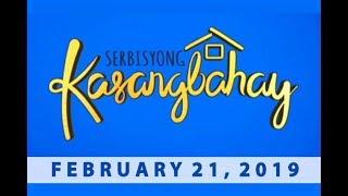 Serbisyong Kasangbahay (February 21, 2019)