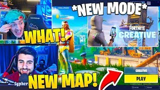 STREAMERS REACT TO *NEW* SEASON 7 CREATIVE MODE! (GAMEPLAY) Fortnite FUNNY Moments