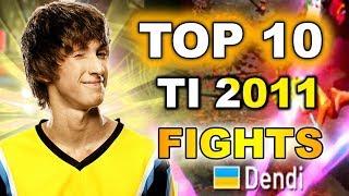 TOP 10 The Best TI 2011 Fights! (Dota 2 was BETA)