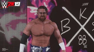 WWE 2K19 : BUDDY MURPHY (205 LIVE MOD) ENTRANCE, FINISHER, SIGNATURE & VICTORY MOTION