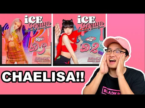 Blackpink Ice Cream Rose And Lisa Teaser Posters Blink Reaction Youtube