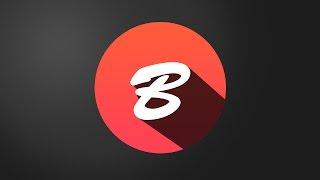 Photoshop CS6 | Alfabe B Logo Tasarımı Eğitimde logo Düz Gölge Oluşturma