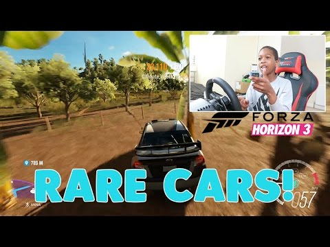 SEARCHING FOR SICK RARE CARS!!   FORZA HORIZON 3 Gameplay With Steering Wheel