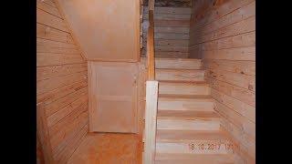 Изготовление лестницы в деревянный дом 2450х2060х2790(д.ш.в.) . День 1 /ступенька 48