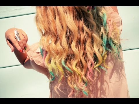 DIY Colorful Chalk Hair Tips Tutorial With Mr. Kate