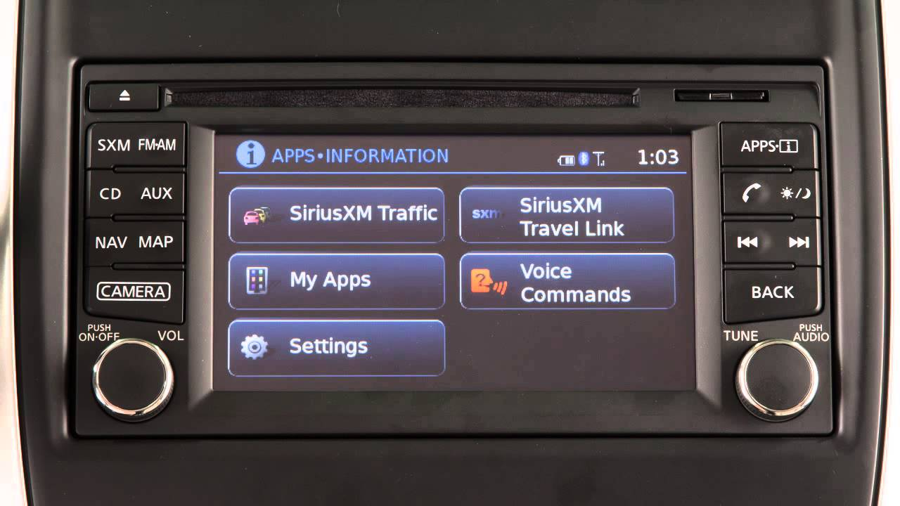 2016 NISSAN Versa Note - Control Panel and Touch Screen ...
