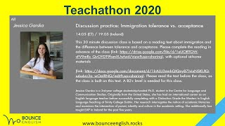 Discussion practice: Immigration tolerance vs. acceptance with Jessica Garska