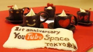 Tuile Cookies Coffee Cups Recipe YouTube Space Tokyo 1st Anniversary コーヒーカップ チュイール クッキー