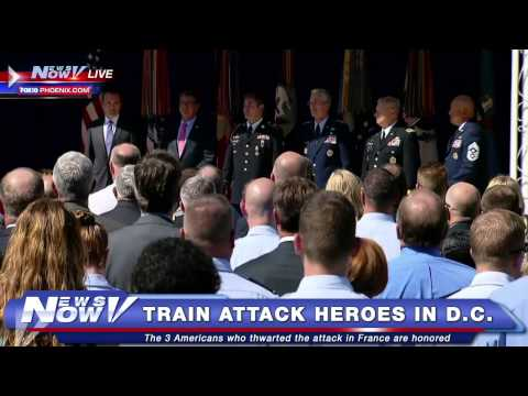 FNN: Paris Train Attack Heroes Honored In D.C.