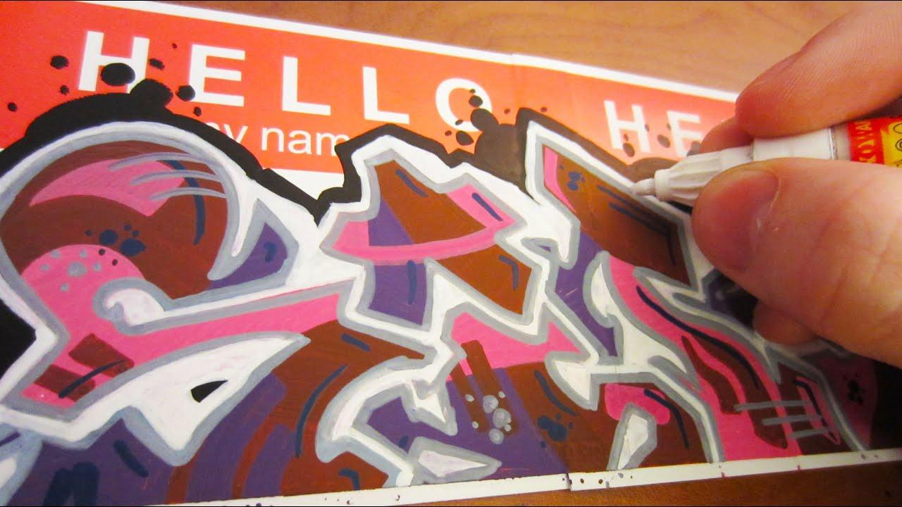 Hello my name is graffiti