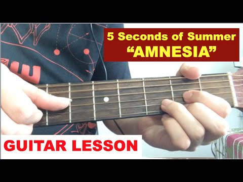 Amnesia 5sos Guitar Tutorial 5 Seconds Of Summer Easy Lesson