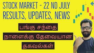 Stock Market Results Updates News | Nifty, Banknifty Technicals | Tamil Share | Intraday