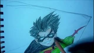 How to Draw Dick Grayson Robin