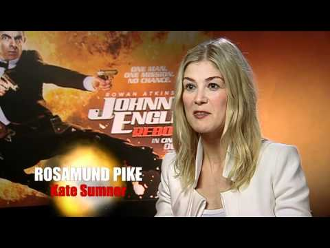 Johnny English Reborn interview with Rowan Atkinson and Rosamund Pike