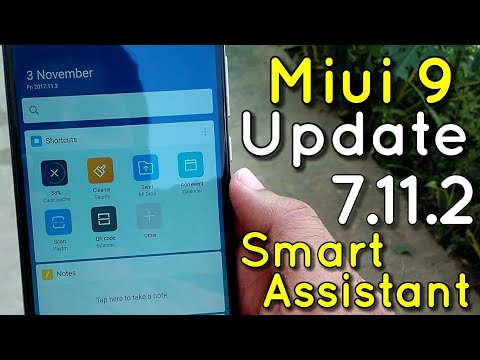 Miui 9 Update 7.11.2 Beta Developer Features | Smart Assistant Added | Hindi - हिंदी