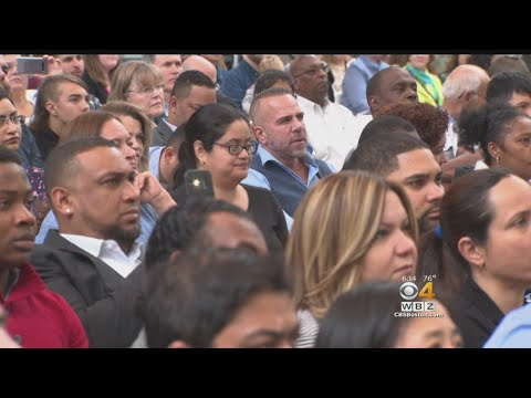 187 Immigrants Become American Citizens At Museum Of Fine Arts
