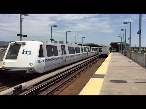 Bay Area Rapid Transit HD 60fps: Mid-Day Trains @ West Oakland Station 7/20/15