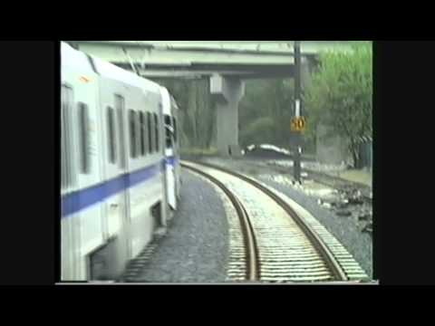 Baltimore MD Light Rail - Timonium MD to Oriole Park @ Camden Yards (from cab - May 17 1992)