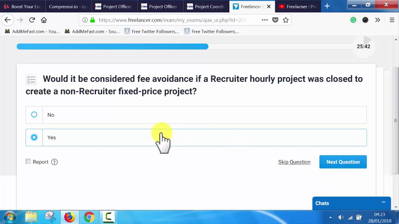 Preferred freelancer program SLA certification level 1  2018