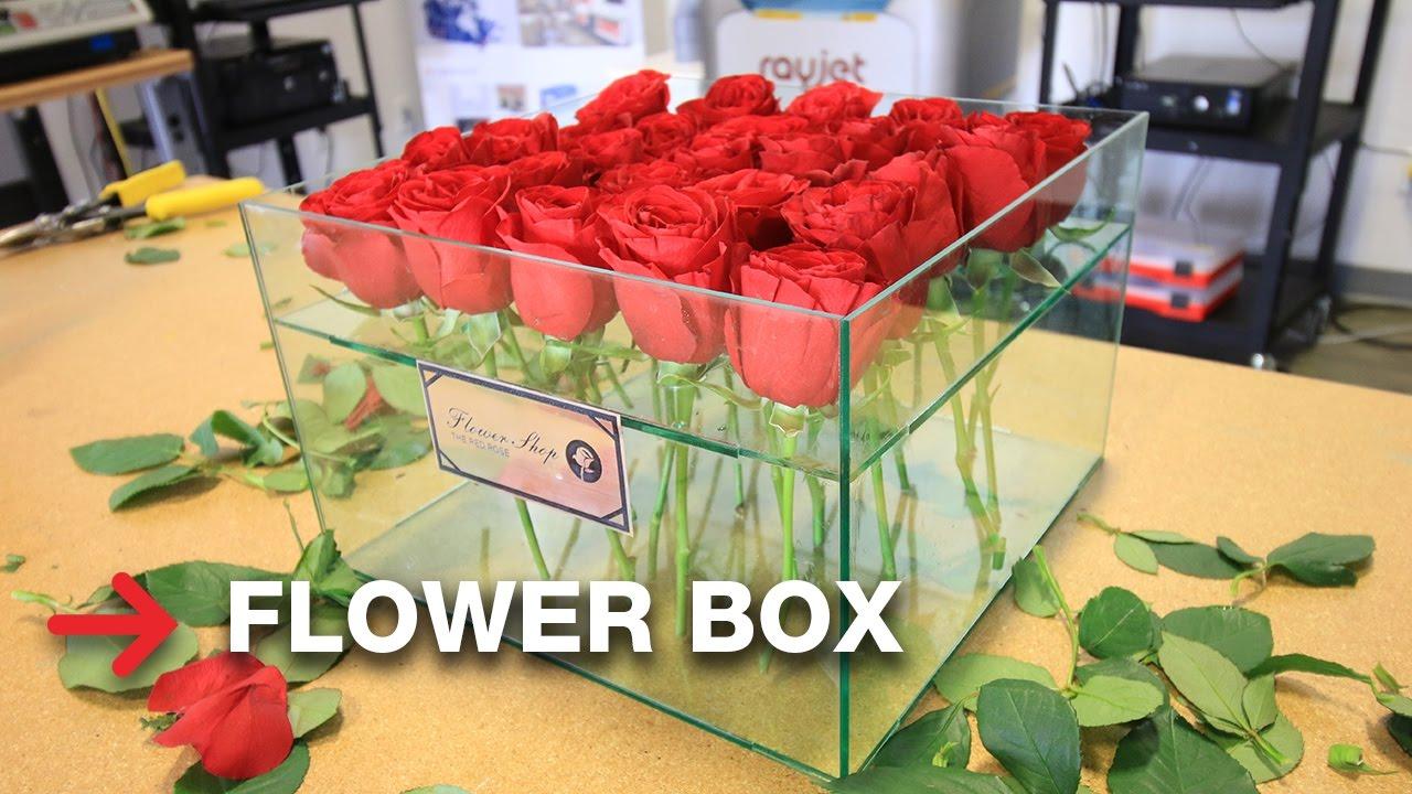 Glass Flower Box Acrylic Box Of Flowers Troglass Youtube