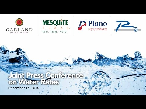 Joint Press Conference on Water Rates