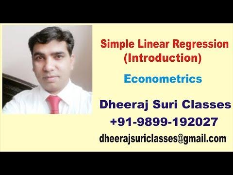 Simple Linear Regression | Econometrics | Economics (Honours)