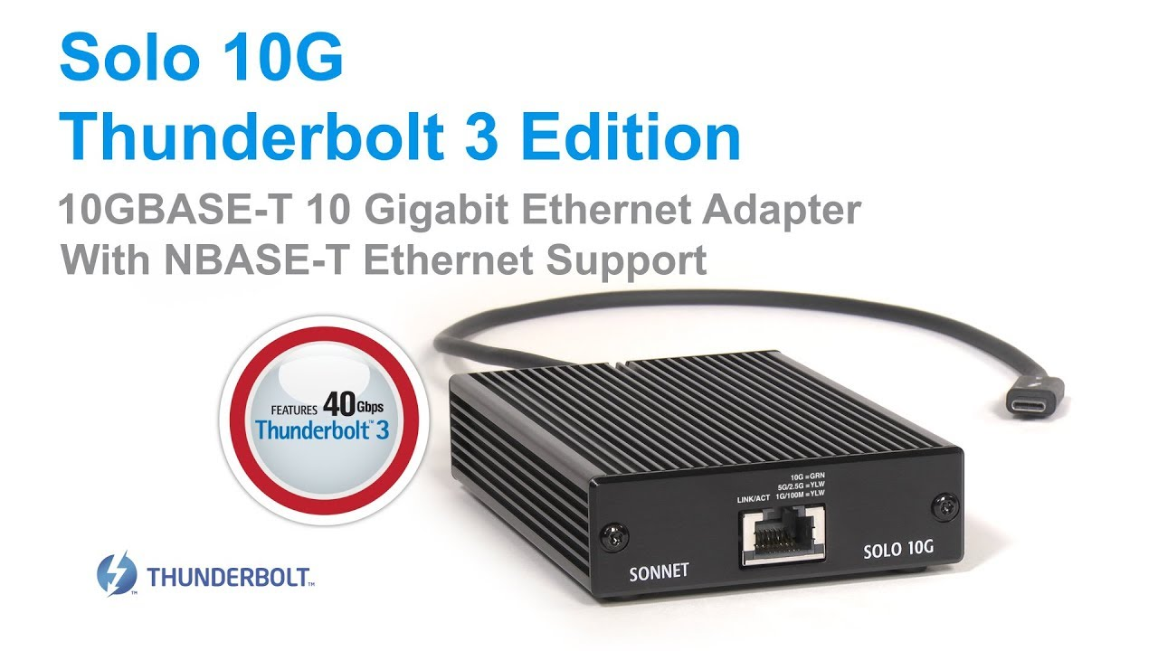 Get a faster network connection with Sonnet's new Solo 10G
