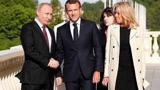 Watch live: Emmanuel Macron meets Vladimir Putin
