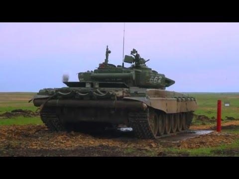 Военные испытали пенопластовые мишени для танкового биатлона